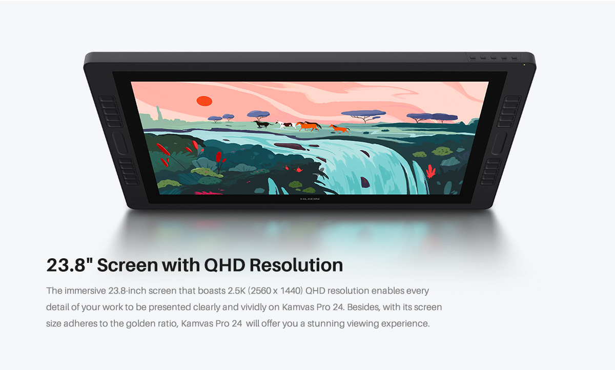 23.8 Inch screen with QHD resolution