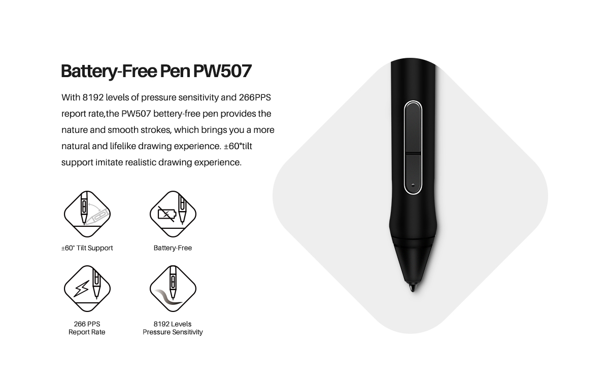 Battery-free Pen PW507