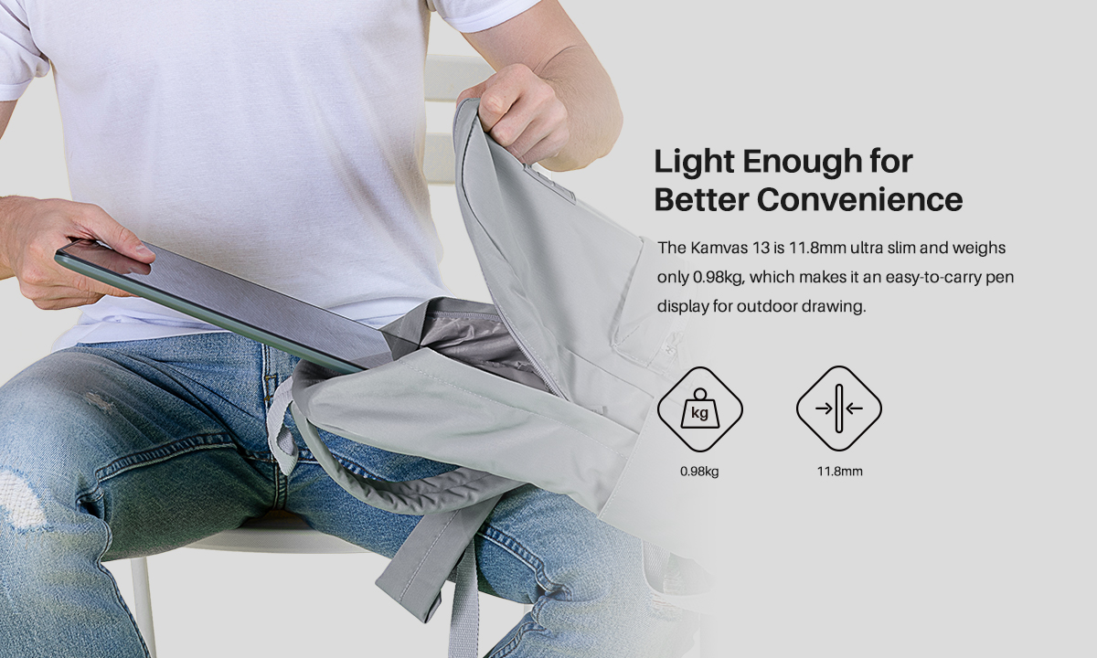 Light enough for better convenience